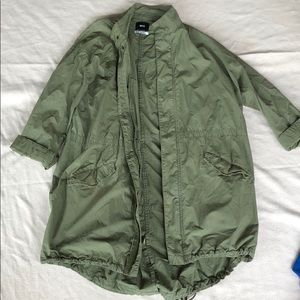 BDG Army Green Trench Coat